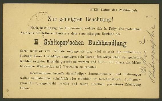 Nachtrag - Bücher, Zeitschriften, Verlage, Buchhandlungen   -   Textzudrucke auf Postkarten N_schl11