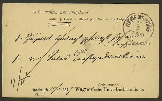 Bücher, Zeitschriften, Verlage, Buchhandlungen   -   Textzudrucke auf Postkarten N_wagn11