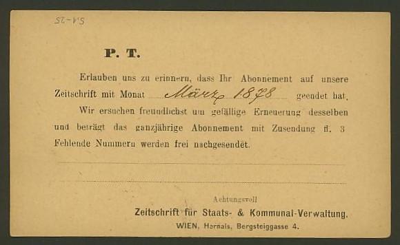 Nachtrag - Bücher, Zeitschriften, Verlage, Buchhandlungen   -   Textzudrucke auf Postkarten N_zeit15