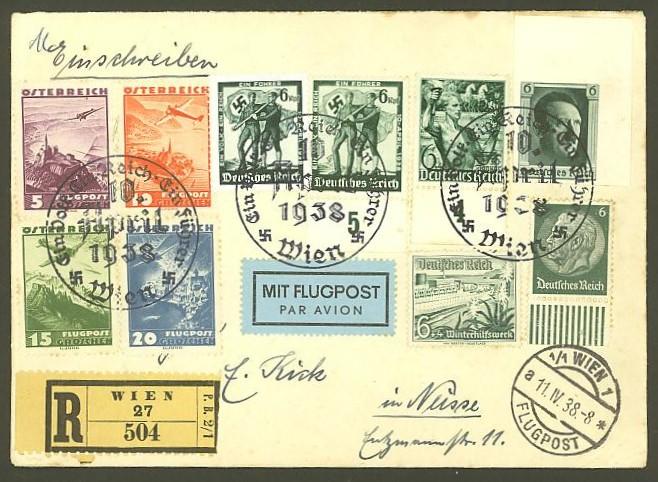 Ältere Flugpost aus Wien Wien_110