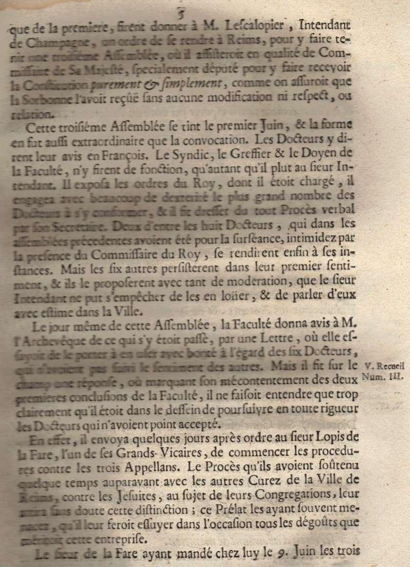 Mémoire pour les trois Docteurs et Curéz de Reims - Janvier 1716 06_pag10