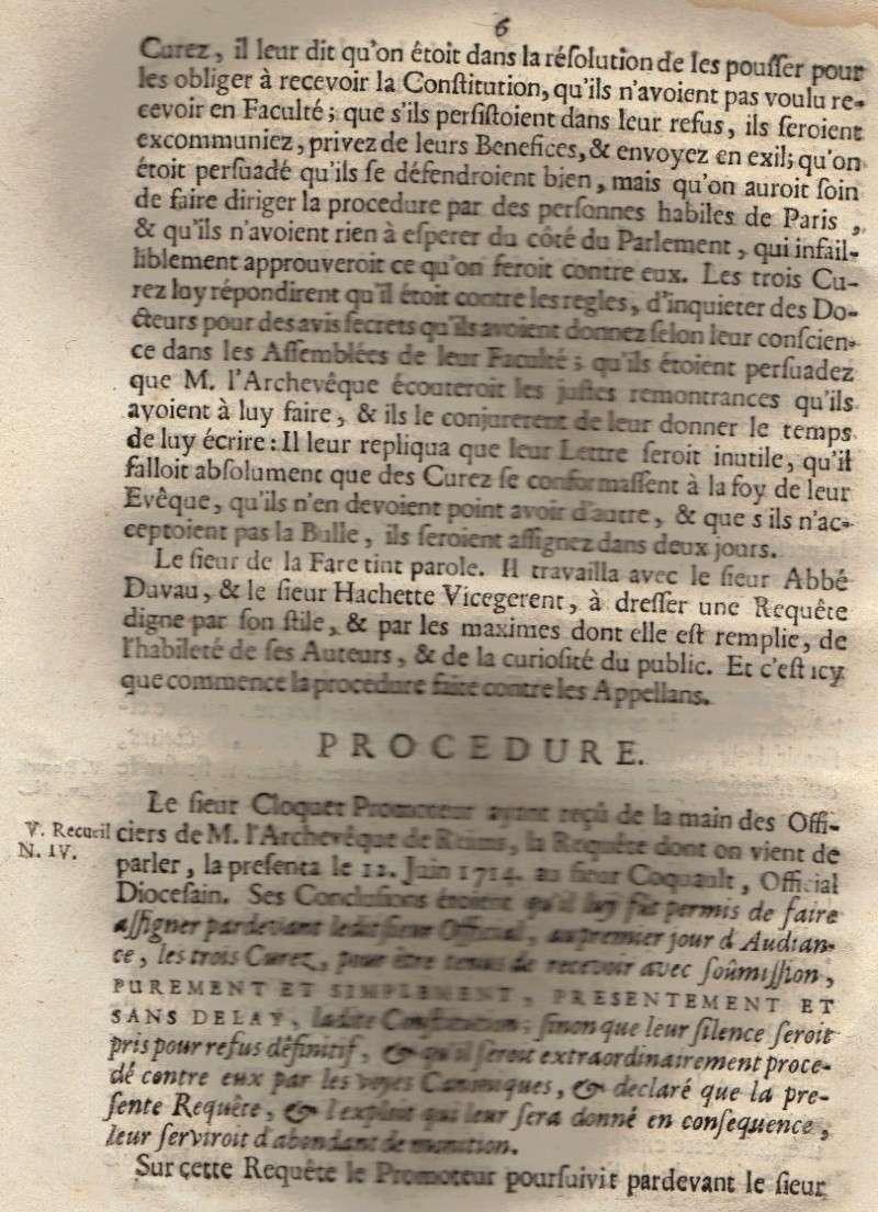 Mémoire pour les trois Docteurs et Curéz de Reims - Janvier 1716 07_pag10
