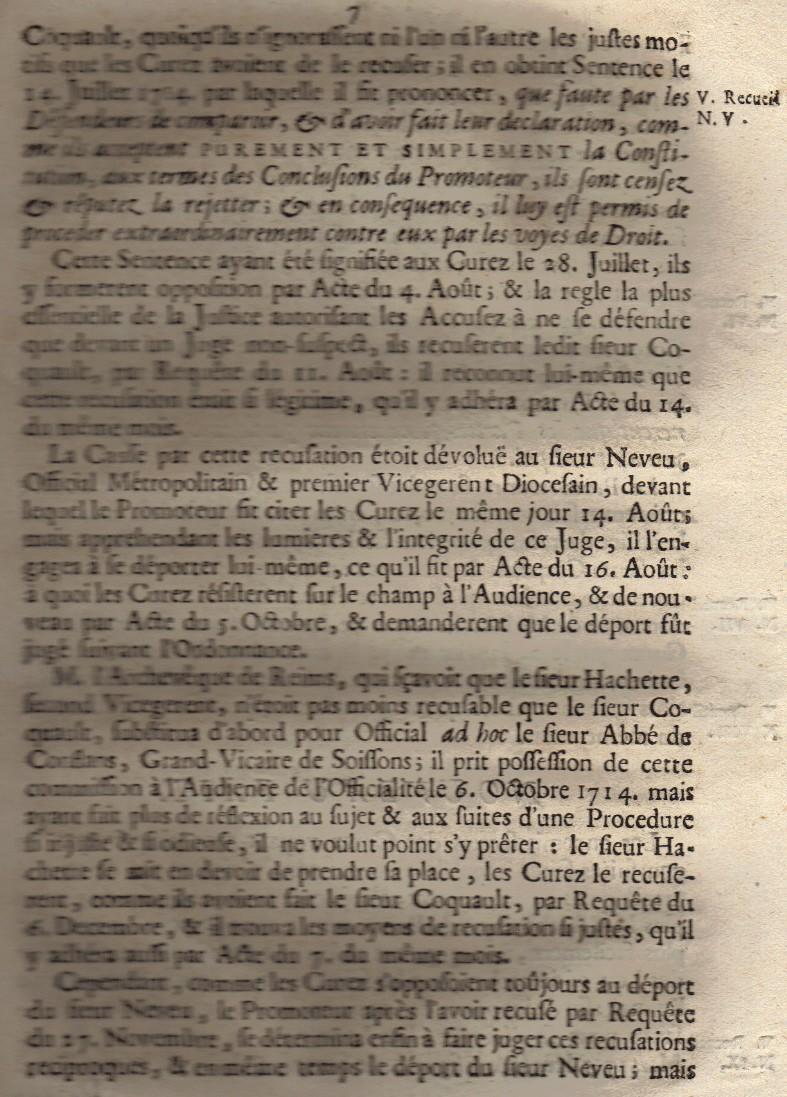 Mémoire pour les trois Docteurs et Curéz de Reims - Janvier 1716 08_pag11