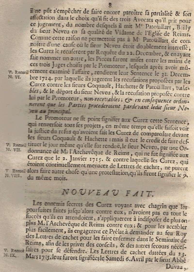 Mémoire pour les trois Docteurs et Curéz de Reims - Janvier 1716 09_pag11