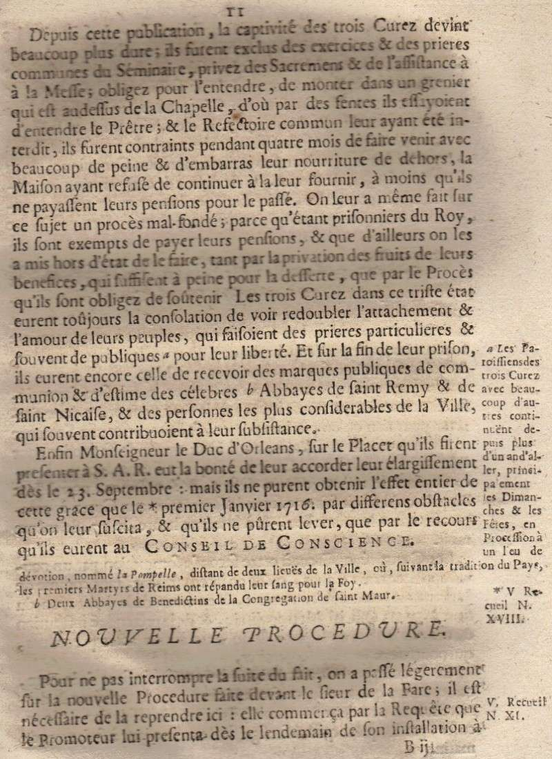 Mémoire pour les trois Docteurs et Curéz de Reims - Janvier 1716 12_pag11