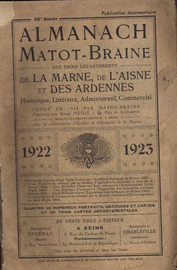 L'Almanach Matot-Braine de la Marne, de l'Aisne & des Ardennes 1922_110