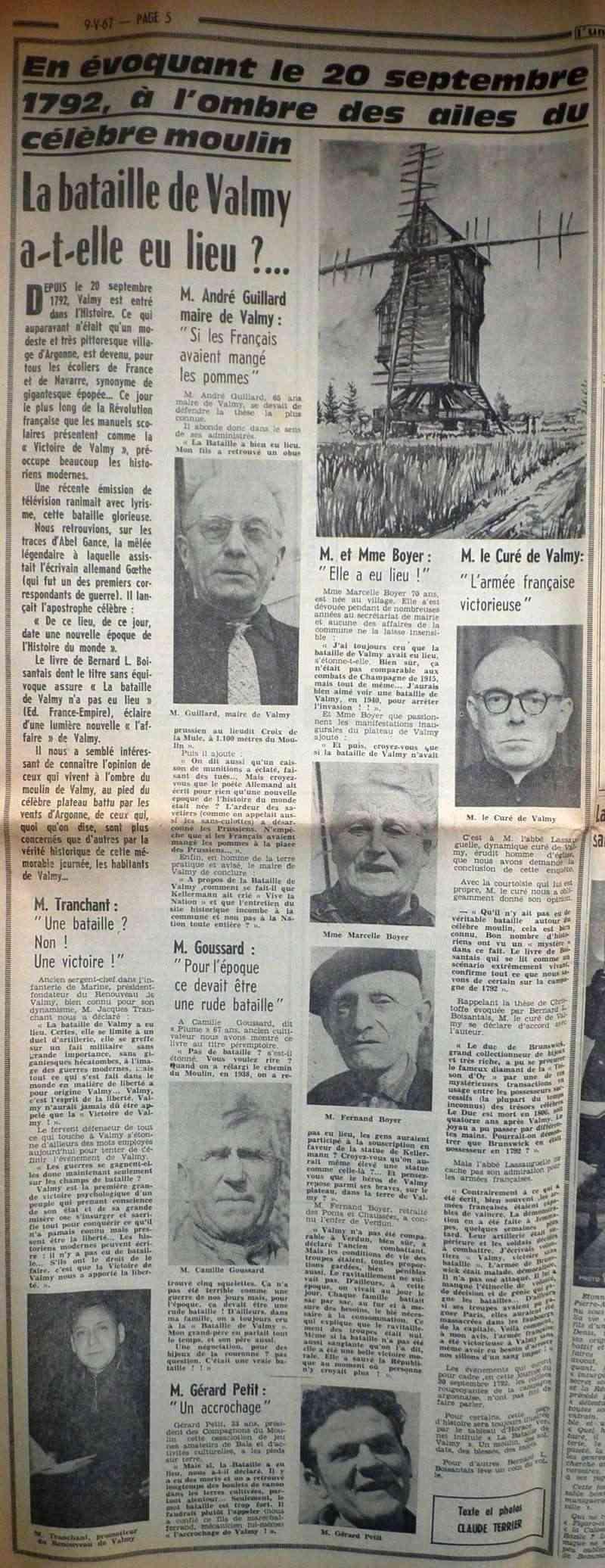 La Bataille de VALMY, Acte fondateur de la République Française 1967-010