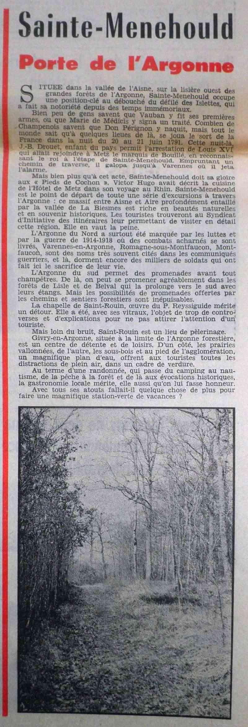 Les Pages Touristiques dans la Presse Locale 1972-026