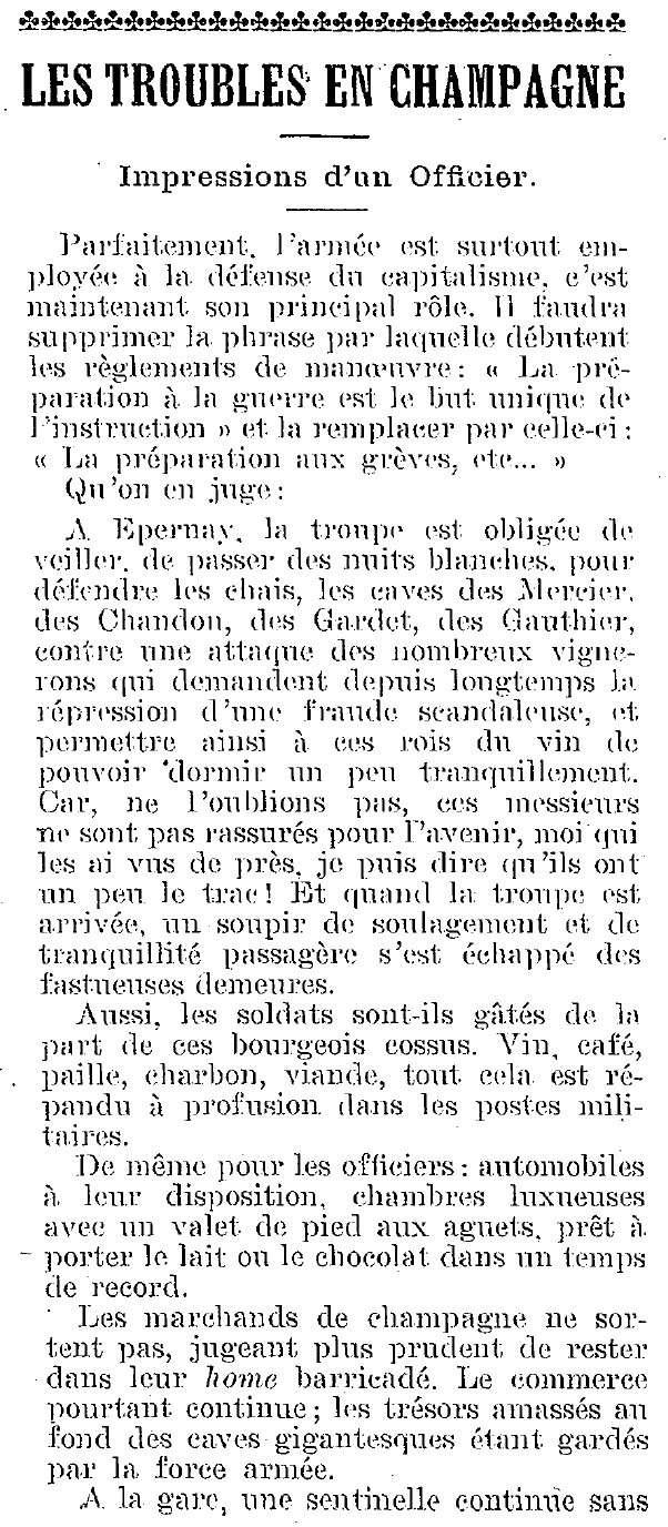 La Révolte des Vignerons en 1911 Armae_12