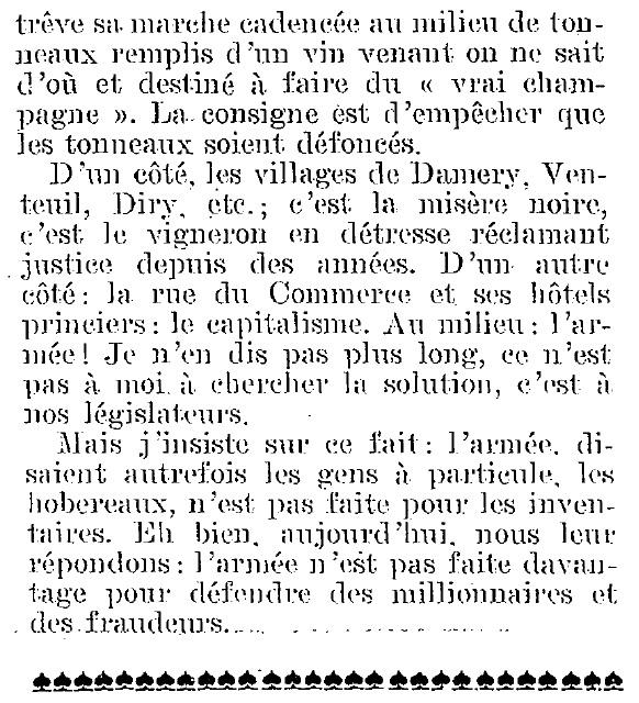 La Révolte des Vignerons en 1911 Armae_13