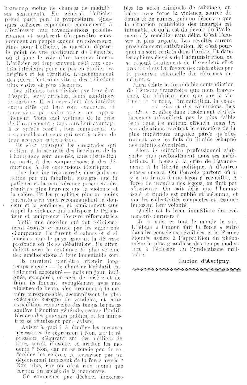 La Révolte des Vignerons en 1911 Armae_16
