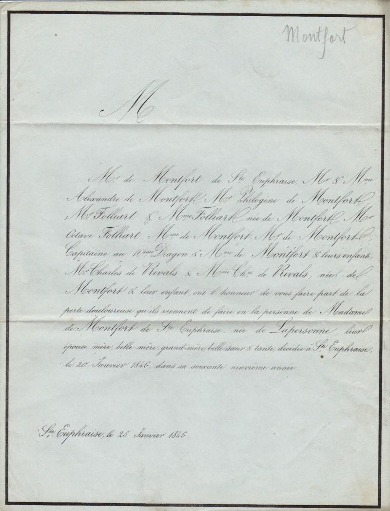 Madame de MONTFORT - St-EUPHRAISE - 20 Janvier 1846 Deces_10