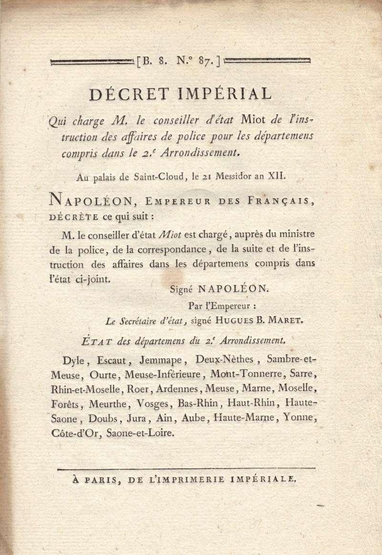 Décrets Impériaux Decret10