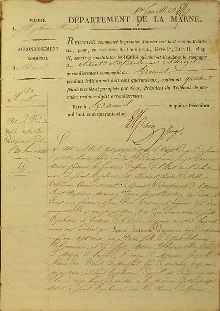 Madame de MONTFORT - St-EUPHRAISE - 20 Janvier 1846 Dscn7210
