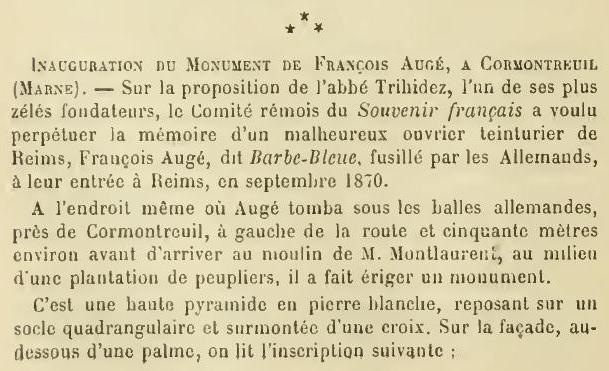 Les Victimes de Guerre de 1870 P37810
