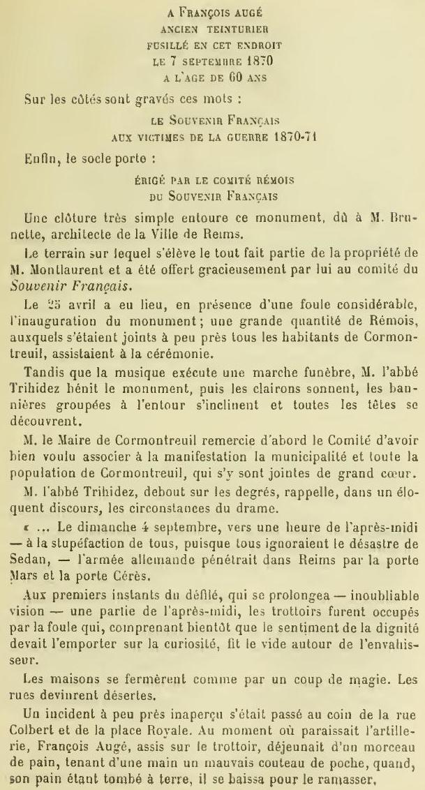 Les Victimes de Guerre de 1870 P37910