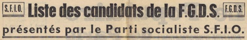 Le Parti Socialiste S.F.I.O. & les autres Partis de la Gauche Démocratique Popula11