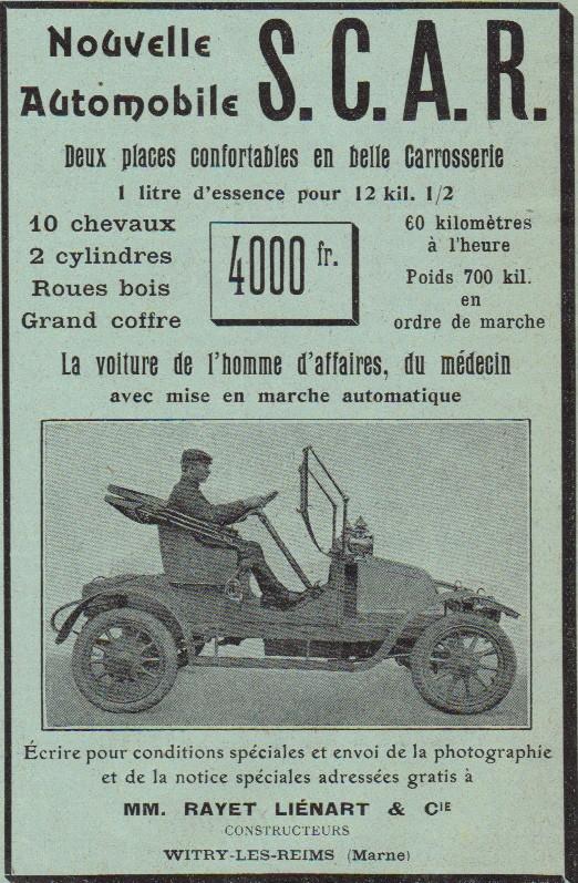 L'Usine Automobile SCAR de Witry-les-Reims Pub_1910