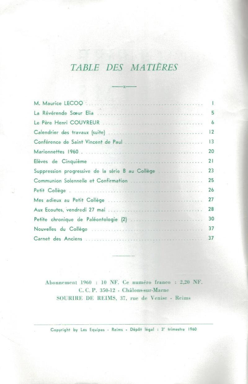 Le Sourire de Reims - Bulletin du Collège Saint-Joseph de Reims Sourir11