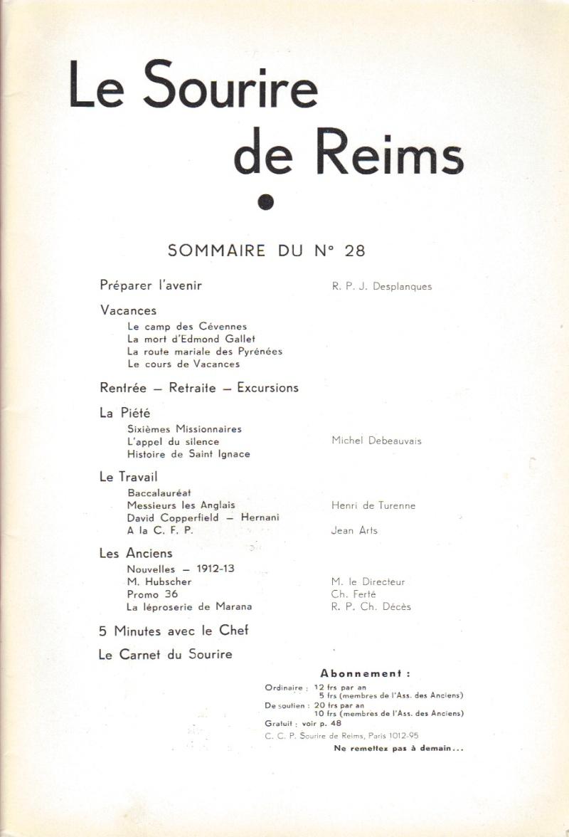 Le Sourire de Reims - Bulletin du Collège Saint-Joseph de Reims Sourir14