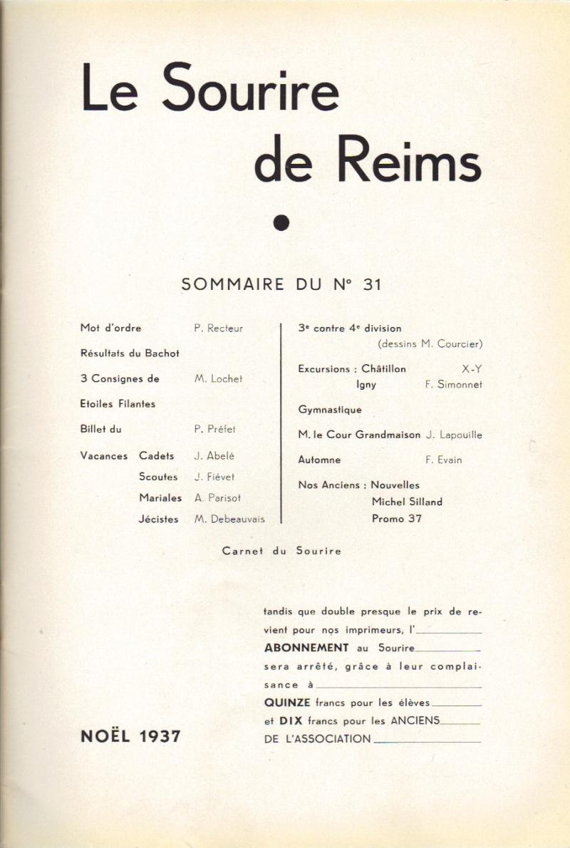 Le Sourire de Reims - Bulletin du Collège Saint-Joseph de Reims Sourir19