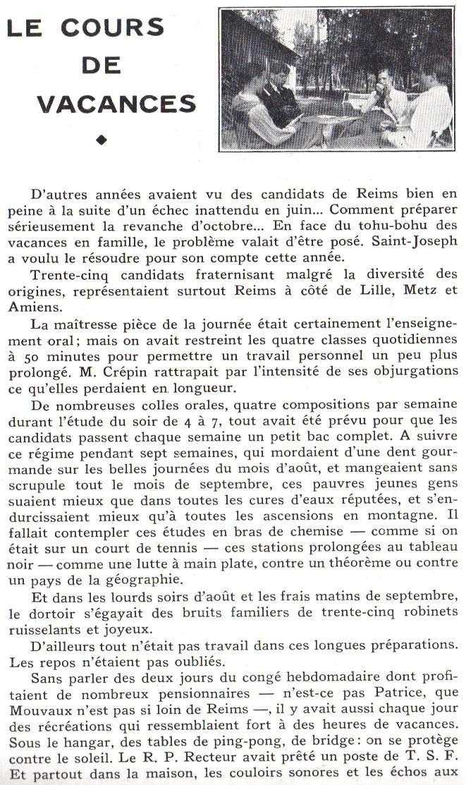 Le Sourire de Reims - Bulletin du Collège Saint-Joseph de Reims Sourir28