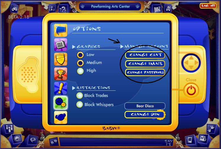 Manage account in PDA! Untitl27