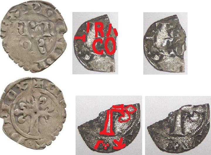 (Ok) Morceau de Double Parisis Philippe VI 1328-1350 Verif10