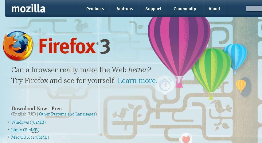 Trình duyệt Firefox 3 chính thức ra mắt người dùng Mozill10