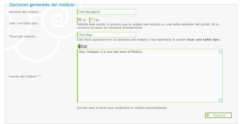 Activación y edición opciones de Widgets del foro Figura16