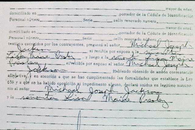 Certificato di matrimonio tra Lisa e Michael Actama10