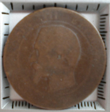 Francia, 10 centimes, Napoleon III, ¿1856? Pa070020