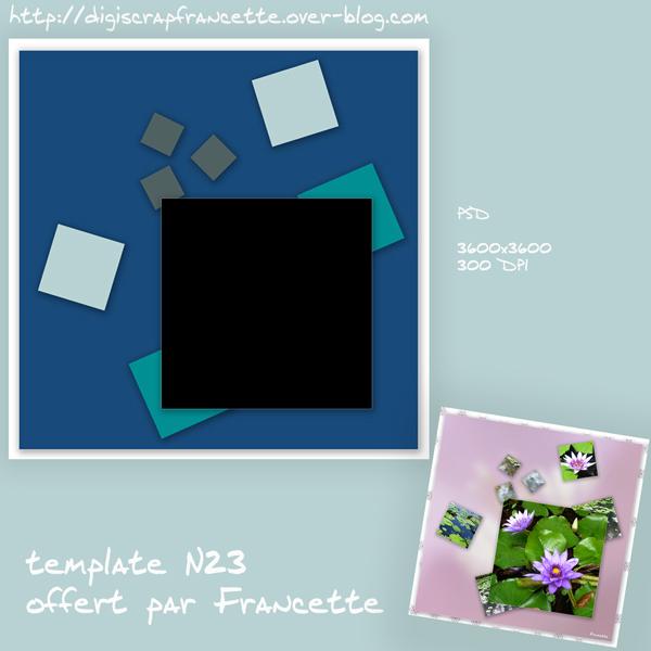 template N23 chez Francette Templa43