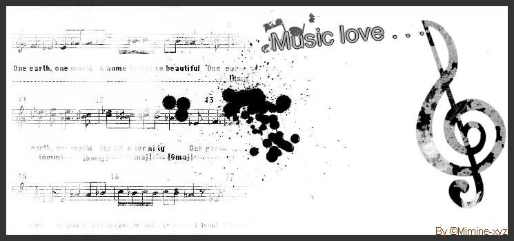 Love music . . . ♪