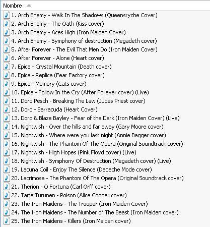 Compilado de covers de bandas con vocalista femenina La_voz10