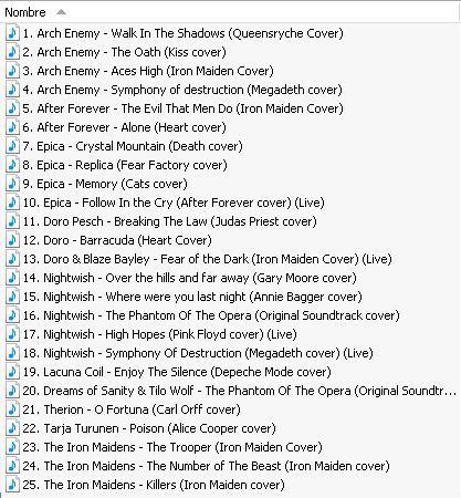 Compilado de covers de bandas con vocalista femenina La_voz11