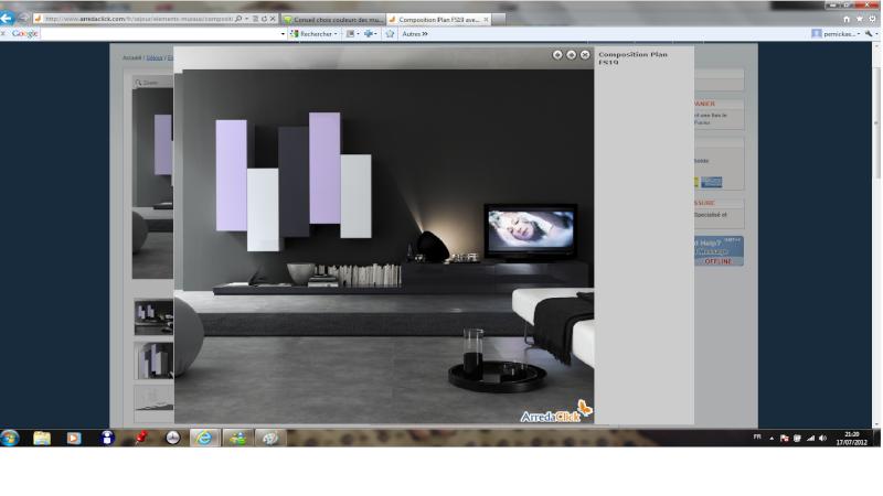 Conseil choix couleurs des murs et mobilier salon/séjour 45m² ...