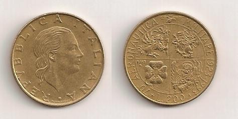 200 liras italianas, 1993 610