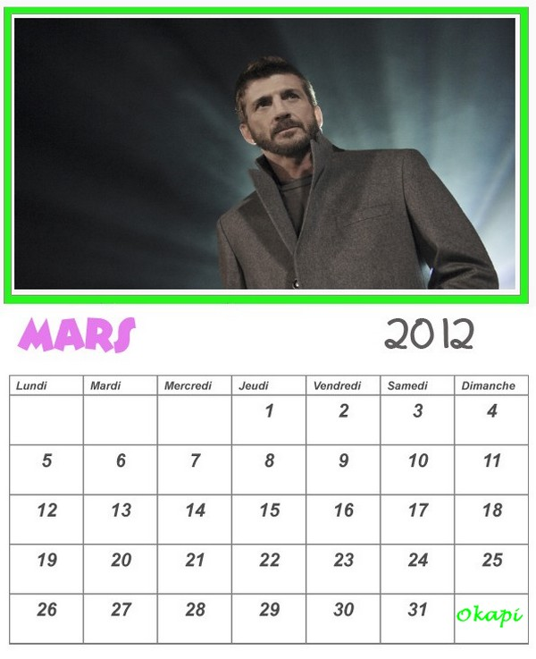 CALENDRIERS 2012 - Page 2 Mars_t11