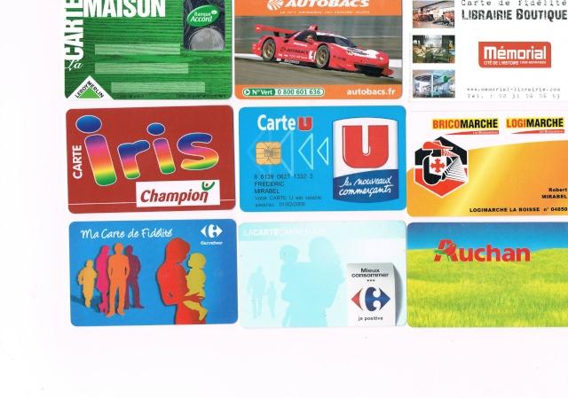 Divers cartes de fidélité Ccf20020