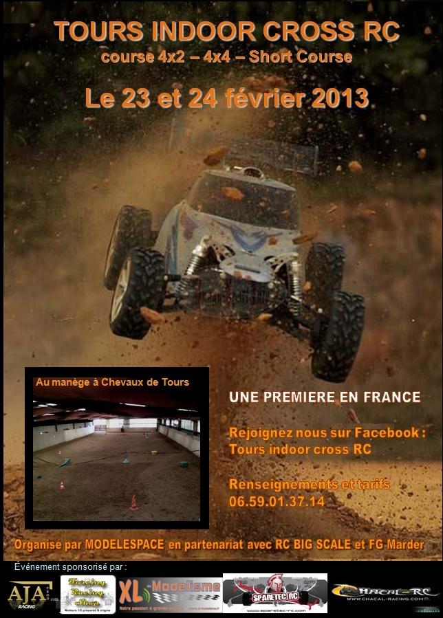 Tours Indoor Cross RC le 23 et 24 Février 2013 Affich10
