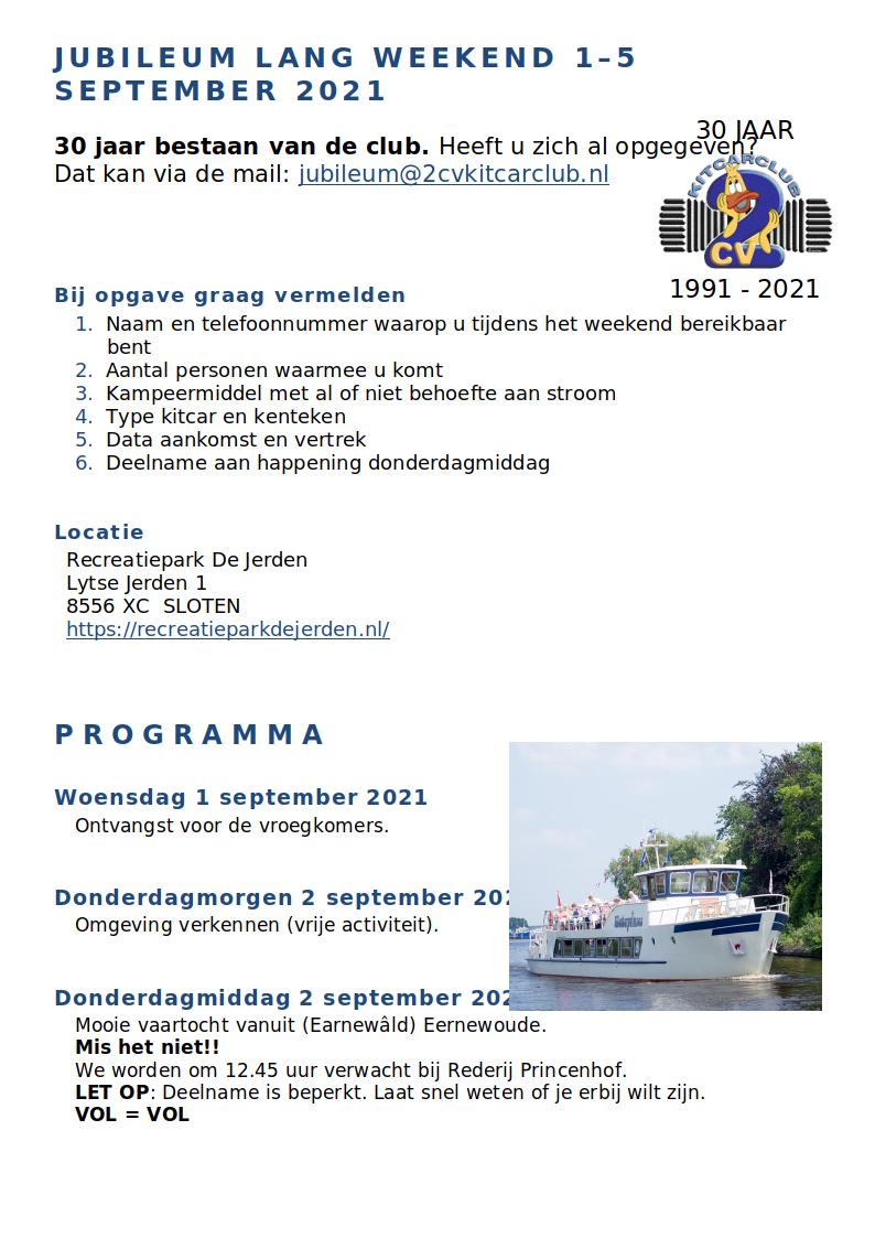 1 - 5 September 30 jarig jubileum 2cv kitcarclub Jubile10