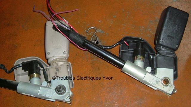 Ceinture de sécurité Honda avec prétensionneur explosé Dscf2910