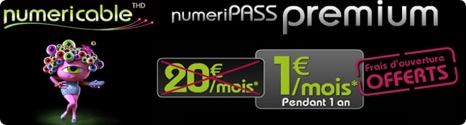 Bbox Fibre: Numeripass Premium à 1€/mois pendant 1 an 13260110