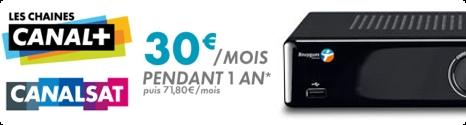 Canal+ et CanalSat pour 30€ avec Bbox 13323310