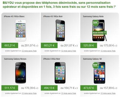 B&You ajuste les tarifs de ses mobiles Bandyo11