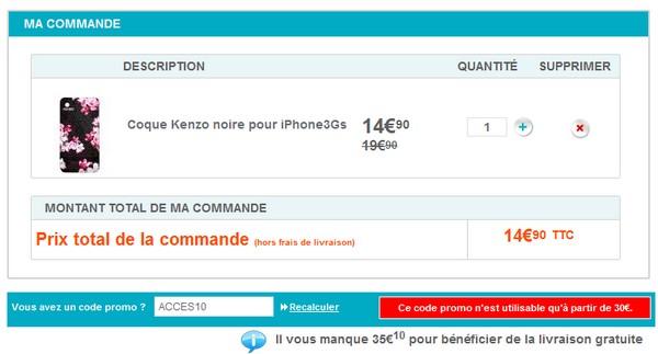 Erratum : 10€ de reduction sur la boutique Accessoires de Bouygues Telecom Code10