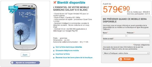 [MAJ]Galaxy SIII disponible dès le 16 mai chez Bouygues Telecom (et B&You) Galaxy11