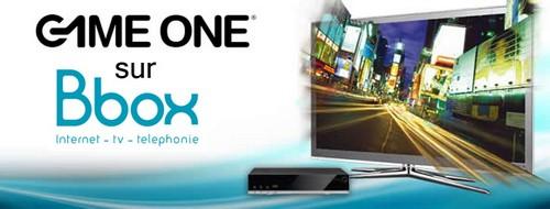 Game One fait son entrée sur Bbox TV Gone10