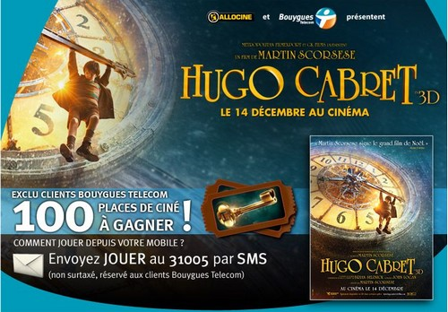 100 Places de ciné pour Hugo Cabret avec Bouygues Telecom Hcbyte10